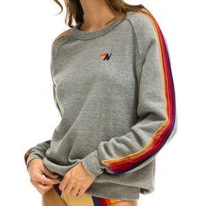 NWT Aviator Nation Classic Heather Grey Sweater M